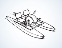 Catamaran pedal. Vector drawing Stock Photo