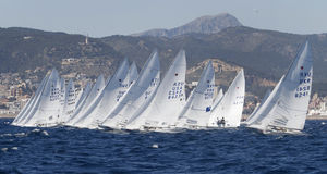 Watercrafts sailing regatta Stock Photo