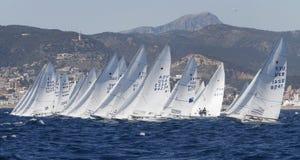 Watercrafts som seglar regatta Arkivfoto
