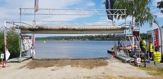 Watercross赛跑 库存图片