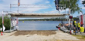 Watercross Laufen stockbilder