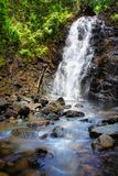 Waterdaling van kahungvallei, kalimantan zuiden stock foto's