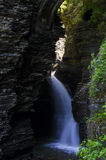 Waterdaling in Watkins Glen State Park Stock Foto