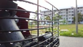 Waterdalingen in de ochtend Stock Afbeeldingen