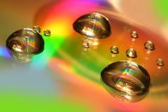 Waterdalingen op CD en DVD Abstract behang Stock Foto's