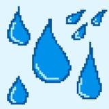 waterdalingen van blauwe kleur voor het ontwerp Royalty-vrije Stock Afbeelding