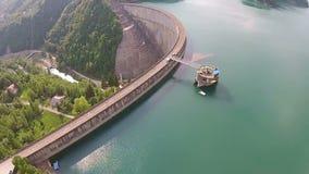 Waterdam boven het toenemen stock videobeelden