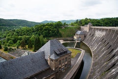 Waterdam in Edersee, Duitsland stock fotografie