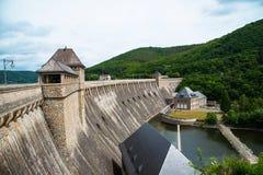 Waterdam in Edersee, Duitsland stock foto