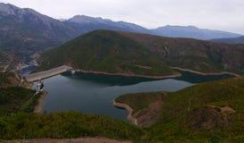Waterdam - Fierze - l'Albanie image libre de droits