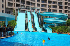 Waterdia en pool royalty-vrije stock fotografie