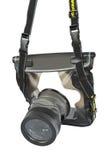 Waterdicht geval voor camera Stock Fotografie
