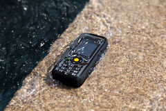 Waterdichte telefoontest Stock Afbeelding