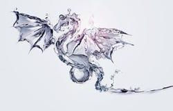 Waterdraak & Licht Stock Foto's
