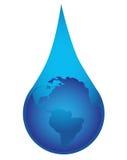 在waterdrop的地球 库存图片