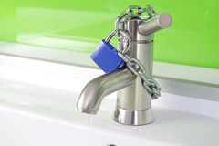 Locked Water Faucet Royalty Free Stock Photos