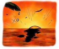Waterdrop ed il grande oceano (2008) Immagini Stock