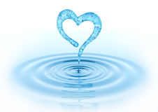 Waterdrop and Heart Stock Photo