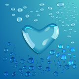 Waterdrop. Heart. Vector Royalty Free Stock Photography