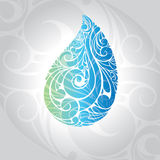 Waterdrop  illustration Stock Photography