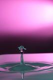 Waterdrop inverkan Arkivfoton