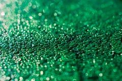 Waterdrop op de groene bokehachtergrond abstracte achtergrond Royalty-vrije Stock Afbeeldingen