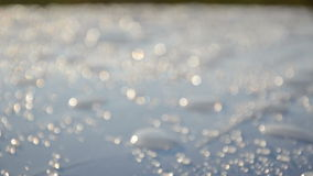 Waterdrop sunlight Royalty Free Stock Images