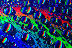 Waterdrop sur le CD Photographie stock