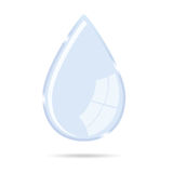 Waterdrop vector illustration icon Stock Images