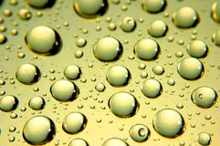 Waterdrops. Close up of waterdrops from above royalty free stock photography