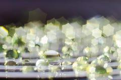 Waterdrops Closeupbakgrund Royaltyfri Foto