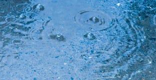 Waterdrops della pioggia Immagini Stock
