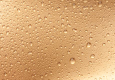 Waterdrops dorati Fotografie Stock
