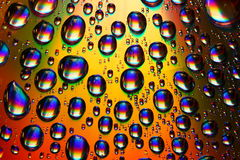 Waterdrops multicolores Photos libres de droits