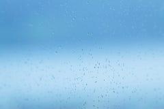 Waterdrops okno Obrazy Stock