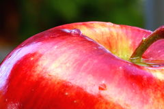 Waterdrops On Apple Royalty Free Stock Image
