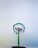 Waterdrops se choca, como una cara. Imagen de archivo