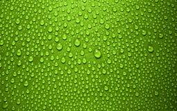 Waterdrops verdes Imagen de archivo libre de regalías