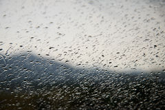 Waterdrops on a window Royalty Free Stock Photography