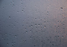 Waterdrops on the window glass Royalty Free Stock Photo
