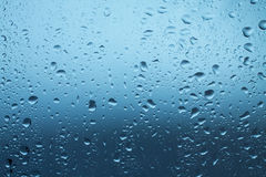 Waterdrops on window after rain Royalty Free Stock Images