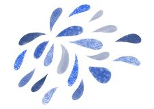 waterdruppeltjes van verschillende vormen en grootte royalty-vrije illustratie