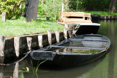 Watered boat Stock Photography
