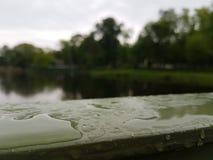 Watered bridge Stock Image