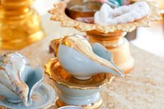 Conch shell wedding stock photography