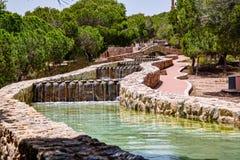 Watereigenschap in Park stock foto's