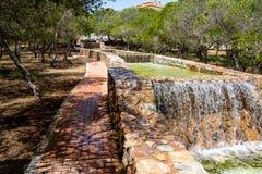 Watereigenschap in Park royalty-vrije stock afbeeldingen