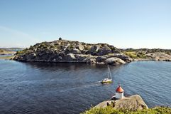 Wateren van Larvik Stock Foto's