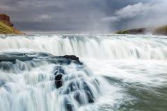 waterfal的古佛斯瀑布,冰岛 库存照片