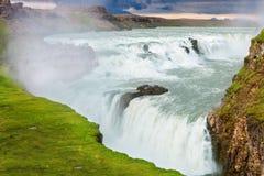 waterfal的古佛斯瀑布,冰岛 免版税库存图片
